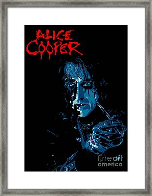 Alice Cooper Framed Print by Caio Caldas