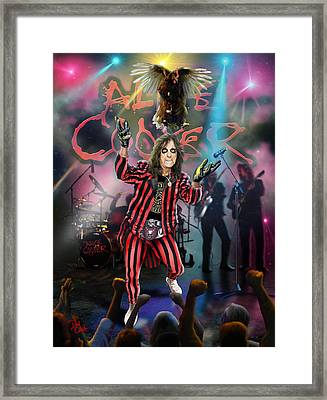 Alice Cooper Framed Print by Don Olea