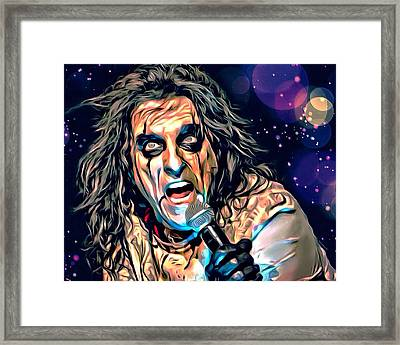 Alice Cooper Portrait Framed Print by Scott Wallace