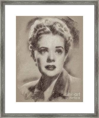 Alice Faye, Actress Framed Print by Frank Falcon