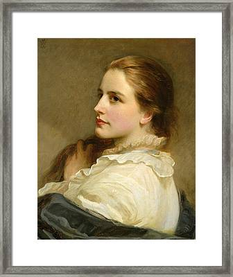 Alice Framed Print by Henry Tanworth Wells