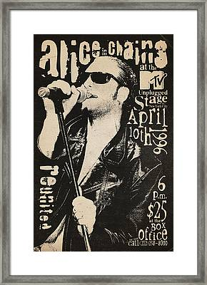 Alice In Chains Framed Print by Laz Llanes