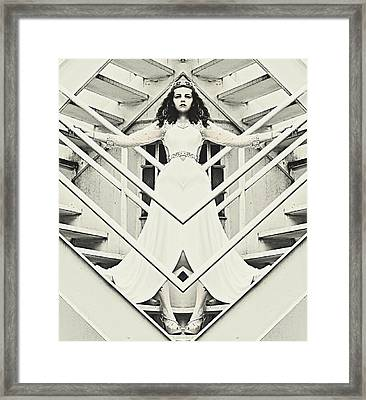Alice In The Mirror  Framed Print by Pamela Patch