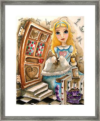 Alice In Wonderland 2 Framed Print by Lucia Stewart
