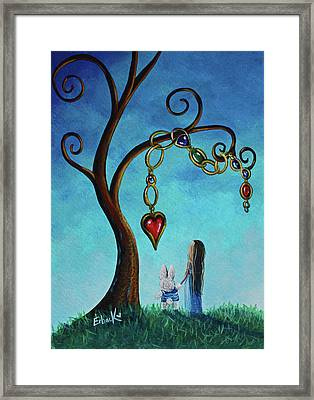 Alice In Wonderland Art - Alice And The Jeweled Tree Framed Print
