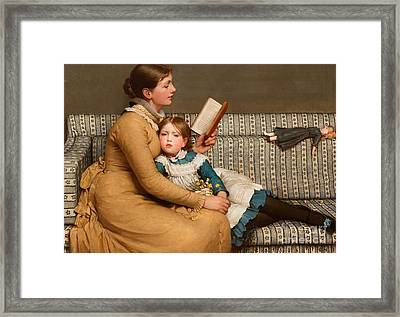 Alice In Wonderland Framed Print by George Dunlop Leslie