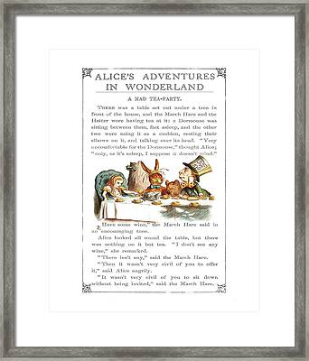 Alice In Wonderland Tea Party Framed Print by Charlie Ross