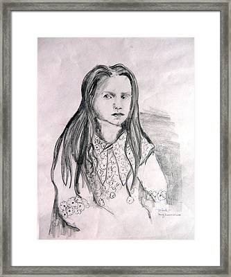 Alice Framed Print by Mindy Newman