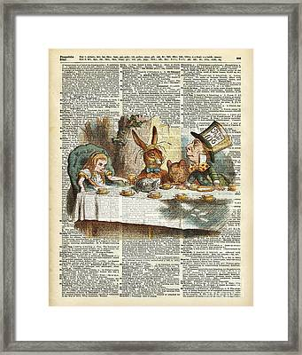 Alice Morning Tea Time Framed Print by Jacob Kuch