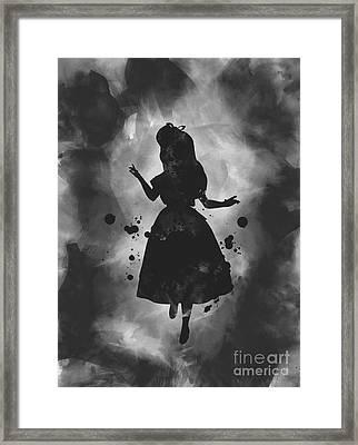 Alice Noir Framed Print