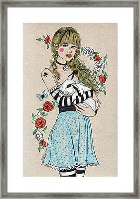 Alice Framed Print by Snezana Kragulj