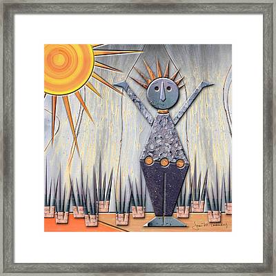 Alice The Goddess Of August Framed Print by Joan Ladendorf