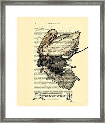 Alice's Adventures In Wonderland The Pool Of Tears Framed Print by Madame Memento
