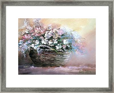 Alice's Bouquet Framed Print by Sally Seago