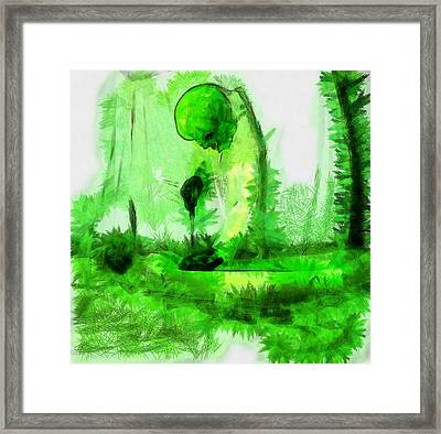 Alien Abduction Framed Print by Esoterica Art Agency