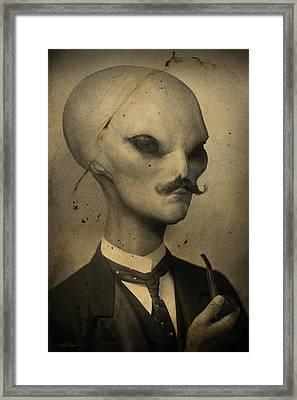 Alien Framed Print by Alex Johnson