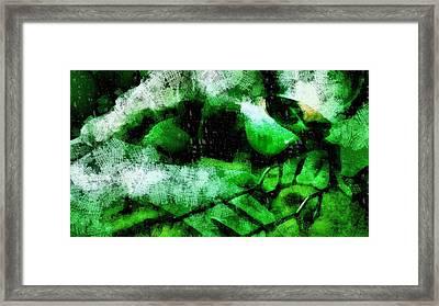 Alien Autopsy Framed Print by Raphael Terra