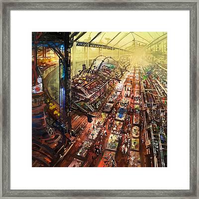 Alien Bazaar Framed Print