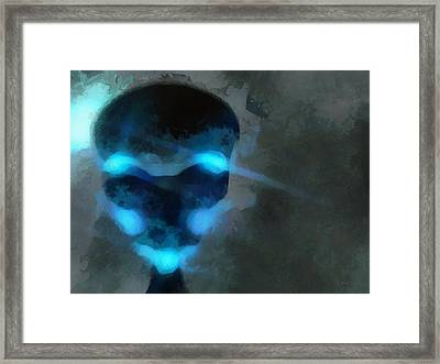 Alien Blue Framed Print by Esoterica Art Agency