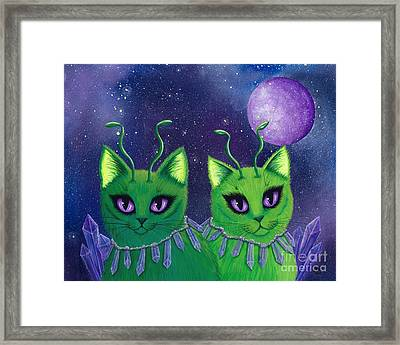 Alien Cats Framed Print