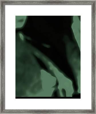 Alien Child Emerging Framed Print by Lenore Senior