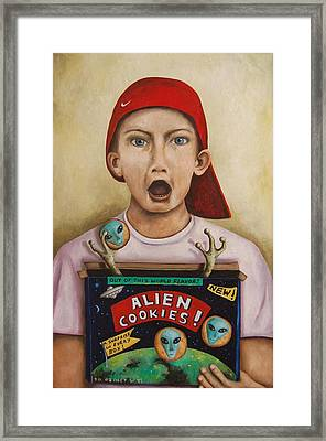 Alien Cookies Framed Print by Leah Saulnier The Painting Maniac