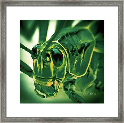 Alien Framed Print by DigiArt Diaries by Vicky B Fuller