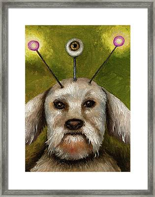 Alien Dog Framed Print by Leah Saulnier The Painting Maniac