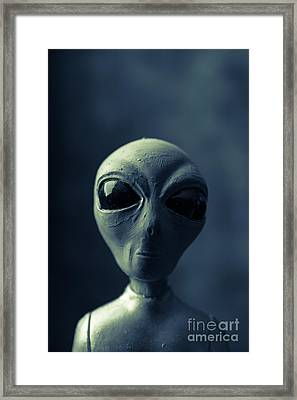 Alien Encounter Framed Print by Edward Fielding