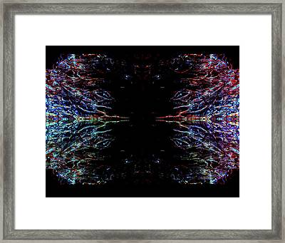 Alien Face Off Framed Print by Samantha Thome