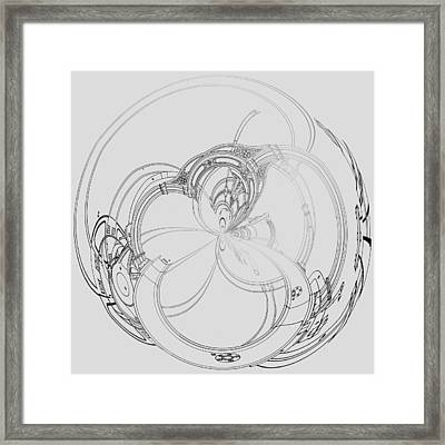 Alien Flywheel Framed Print