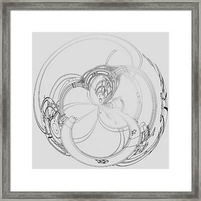 Alien Flywheel Framed Print