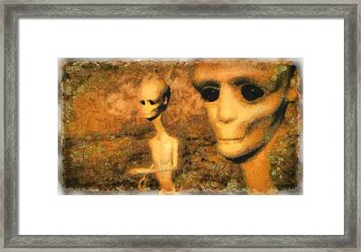 Alien Friends Framed Print by Esoterica Art Agency