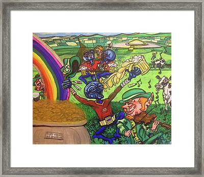 Alien Go Bragh Framed Print
