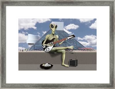 Alien Guitarist 1 Framed Print