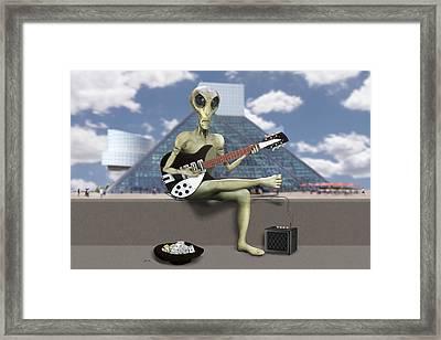Alien Guitarist 1 Framed Print