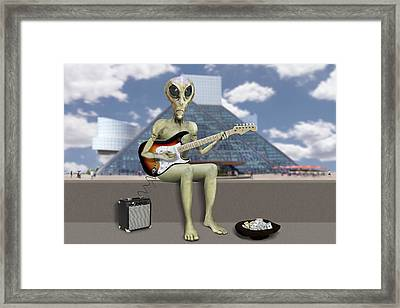 Alien Guitarist 2 Framed Print
