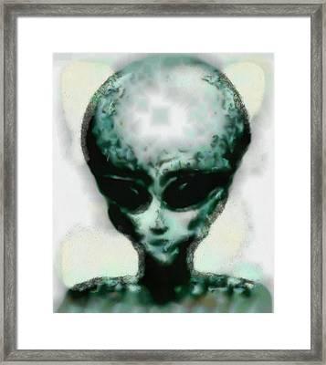 Alien Head Framed Print by Esoterica Art Agency
