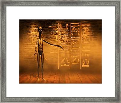 Alien High School By Raphael Terra Framed Print
