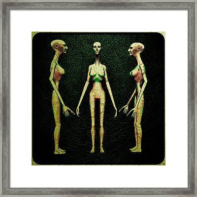 Alien Hybrid Woman Framed Print