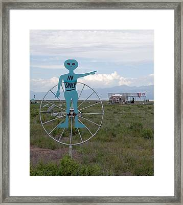 Alien In Only 1 Framed Print by Joseph R Luciano