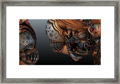 Alien In Your Face Framed Print
