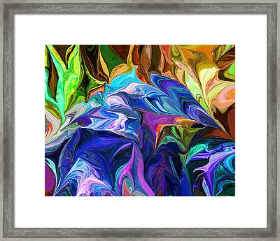 Alien Jungle Flora Framed Print