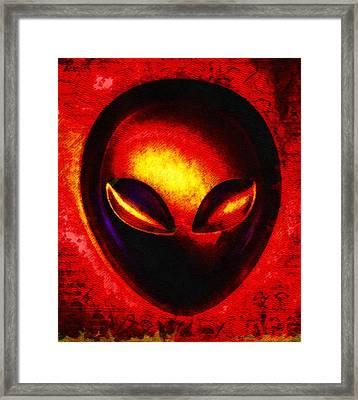 Alien Memory Framed Print by Raphael Terra