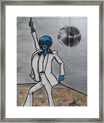 Alien Night Fever Framed Print by Similar Alien