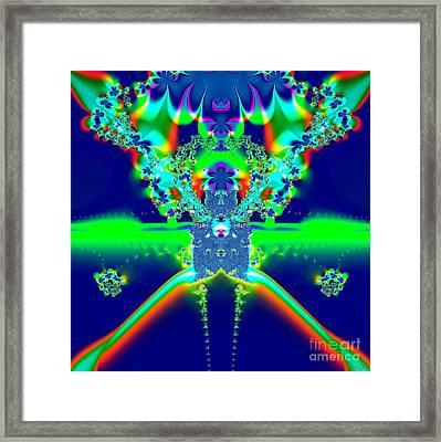 Alien Poodle Fractal 96 Framed Print by Rose Santuci-Sofranko