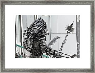 Alien Predator Framed Print by Yurix Sardinelly