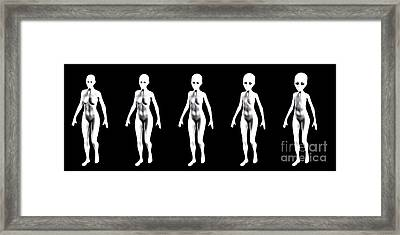 Alien Progression, Digital Art By Mb Framed Print