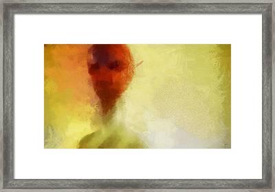 Alien Red Framed Print by Esoterica Art Agency
