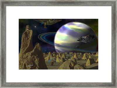Alien Repose Framed Print